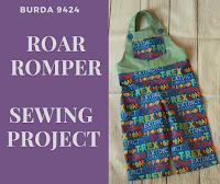Burda 9424 Romper Sewing Project
