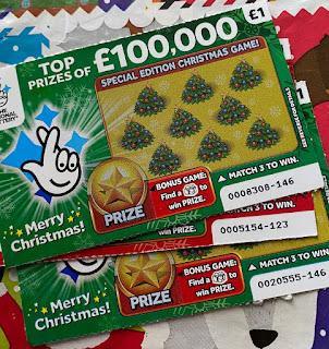 £1 Green Christmas Card