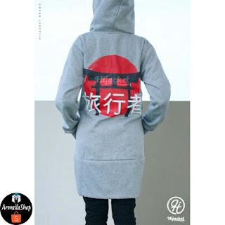 Jaket Hijab Japan Street Hijacket Original Premium Grey HJ-JS2