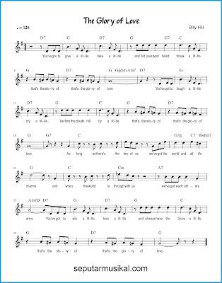 The Glory of Love chords jazz standar
