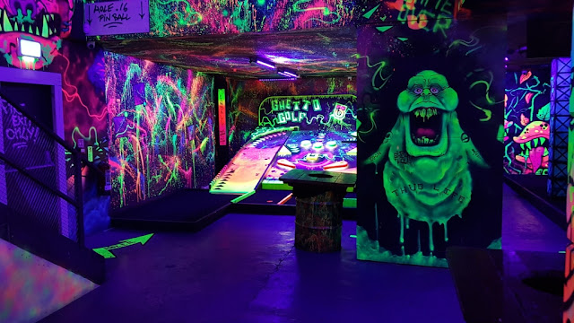 Slimer at Ghetto Golf at Hoults Yard in Byker, Newcastle