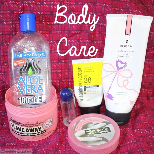 Skin and hair care products I emptied out last month.