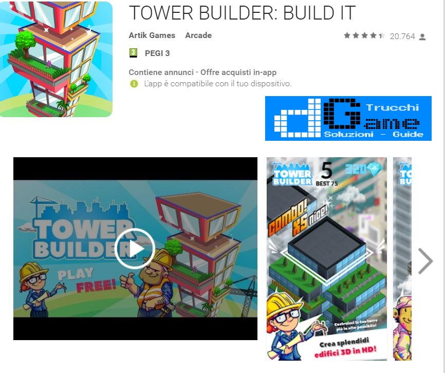 Trucchi TOWER BUILDER: BUILD IT Mod Apk Android v1.0.6