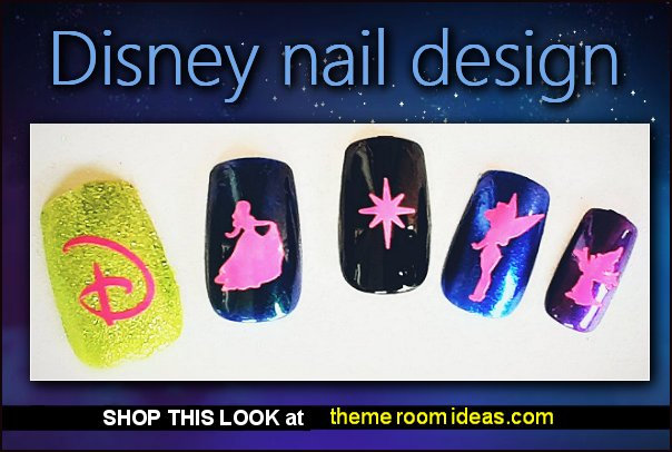 Disney Theme Vinyl nail decals disney nails disney nail art decorations