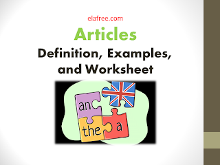 Articles: a, an, the