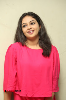 Actress Arundathi Nair Stills in Red Chididar at Bethaludu Success Meet  0076.JPG
