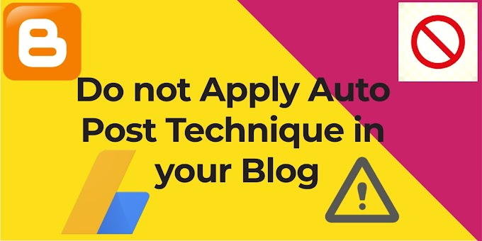 Do not Apply Auto Post in Your blog