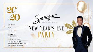 Spago Restaurant İstanbul Yılbaşı Programı 2020 Menüsü