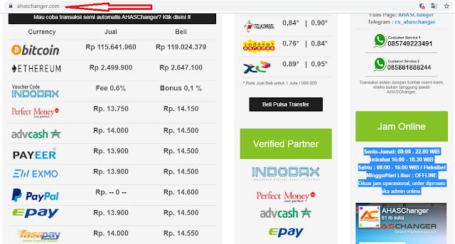Situs Jual Beli Paypal, Payeer, Epay, Fasapay, Exmo, Advcash, Perfect Money, Ovo, Dana, GoPay, Bitcoin dan Etherium Terpercaya, Termurah, Teramah dan Cepat Sejak 2014