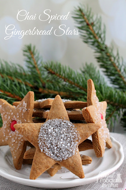 With warm chai spices and a touch of molasses, these Chai Spiced Gingerbread Stars are sure to quickly become a new classic cookie for your holiday baking.