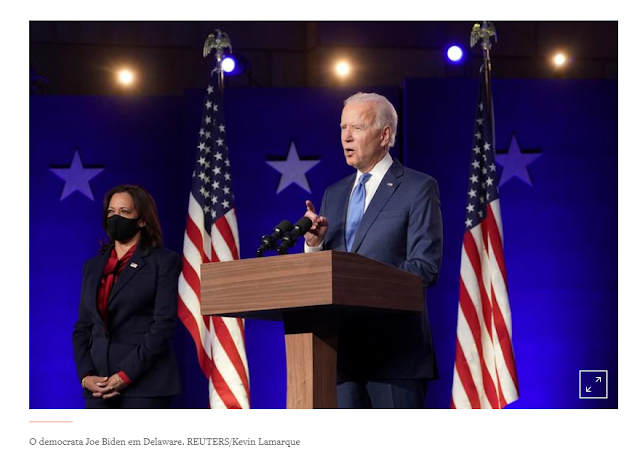 Biden vence corrida presidencial dos EUA e pede união do país