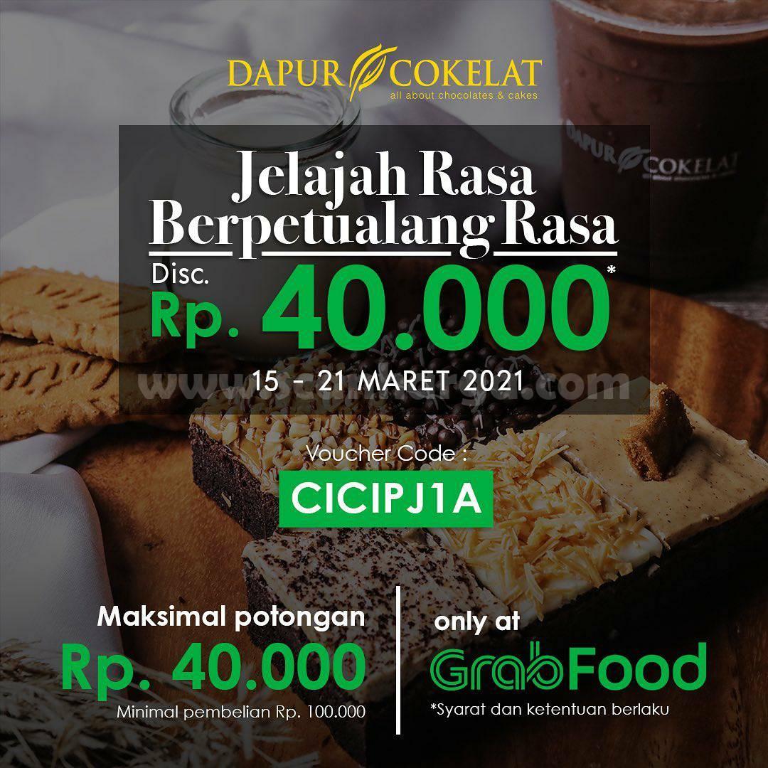 DAPUR COKELAT Promo DISKON Rp 40.000 via aplikasi GRABFOOD 1