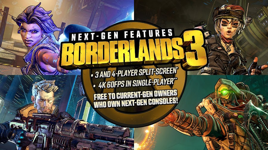 borderlands 3 gearbox software 2K games ps5 xbox series x free version upgrade next-gen console smart delivery feature pc ps4 xb1 action role-playing first-person shooter game
