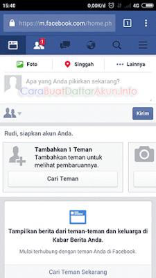 masuk akun facebook dengan nomor telepon