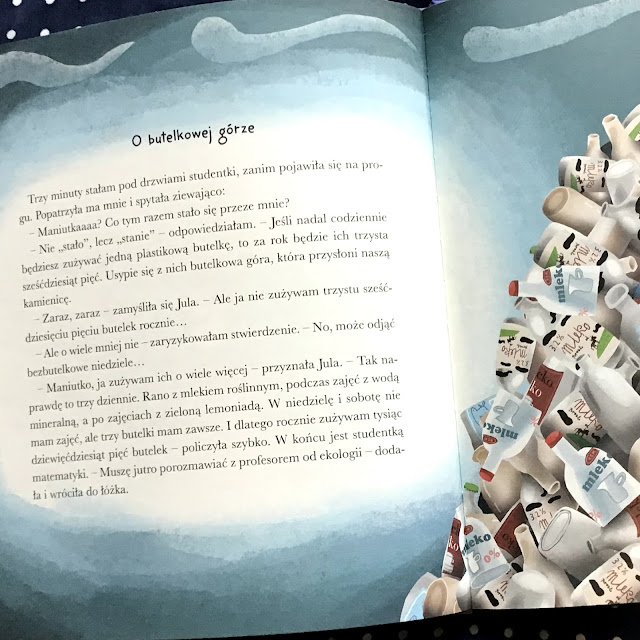 """""""Maniutka ratuje świat"""" Joanna Krzyżanek, Zenon Wiewiurka, Dwukropek, ekologiczna historia dla przedszkolaków o katastrofie klimatycznej"""