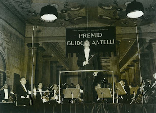 The young Muti at the Guido Cantelli competition in Milan in 1967, which he won