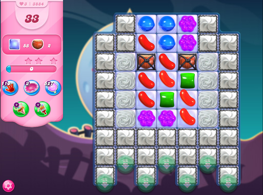 Candy Crush Saga level 3884