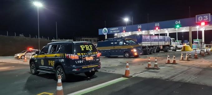 Forças policiais impedem tentativa de roubo a Carro Forte na BR 277 na noite desta segunda-feira