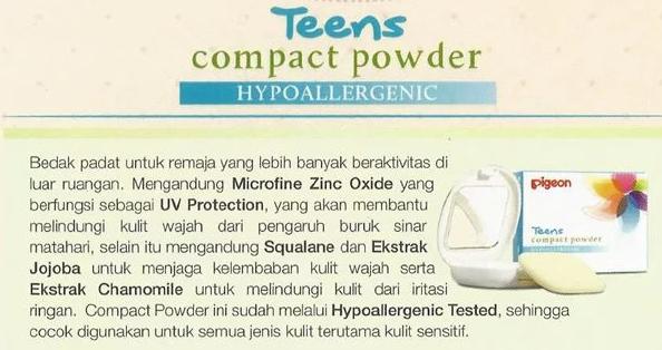 Pigeon Teens Compact Powder - Bedak padat yang bagus tapi murah