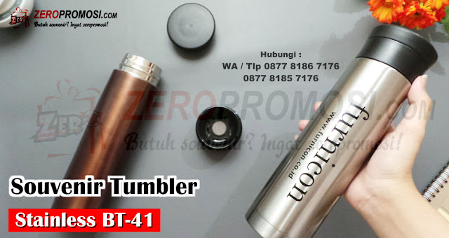 Souvenir Tumbler BT-41, Jual Water Bottle BT-41 450 ml Stainless, Thumbler Vacuum BT41, STAINLESS Tumbler Stainless