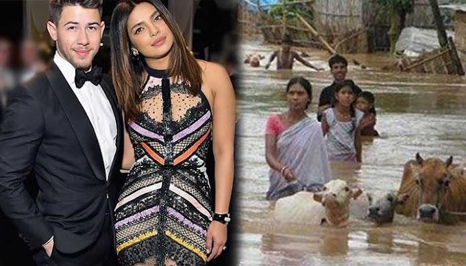 प्रियंका चोपड़ा जोनस और उनके पति निक जोनस ने की असम में बाढ़ पीड़ितों की सहायता, लोगो से भी करी मदद की अपील