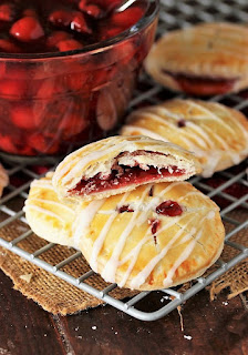 Cherry Pie Cookies with Cherry Pie Filling Image