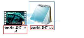 Salin subtitle ke folder yang sama dengan folder film kemudian sesuaikan nama subtitle dengan nama film Anda.