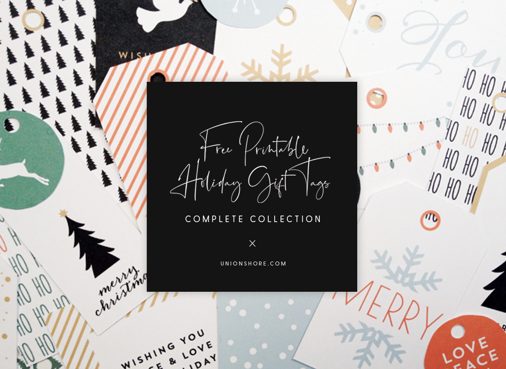 Free Printable Holiday Gift Tags by Union Shore Blog