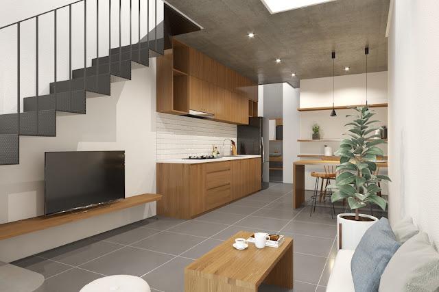 Tầng trệt kiểu kiến trúc tối giản