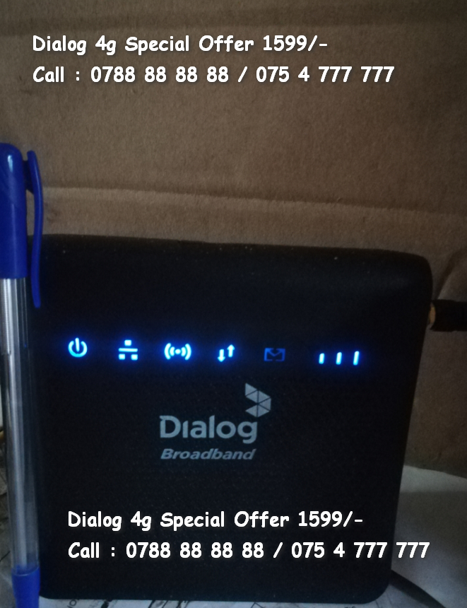 Dialog 4G Mini Routers Special Offers 1599/- Only / Dialog TV Pre