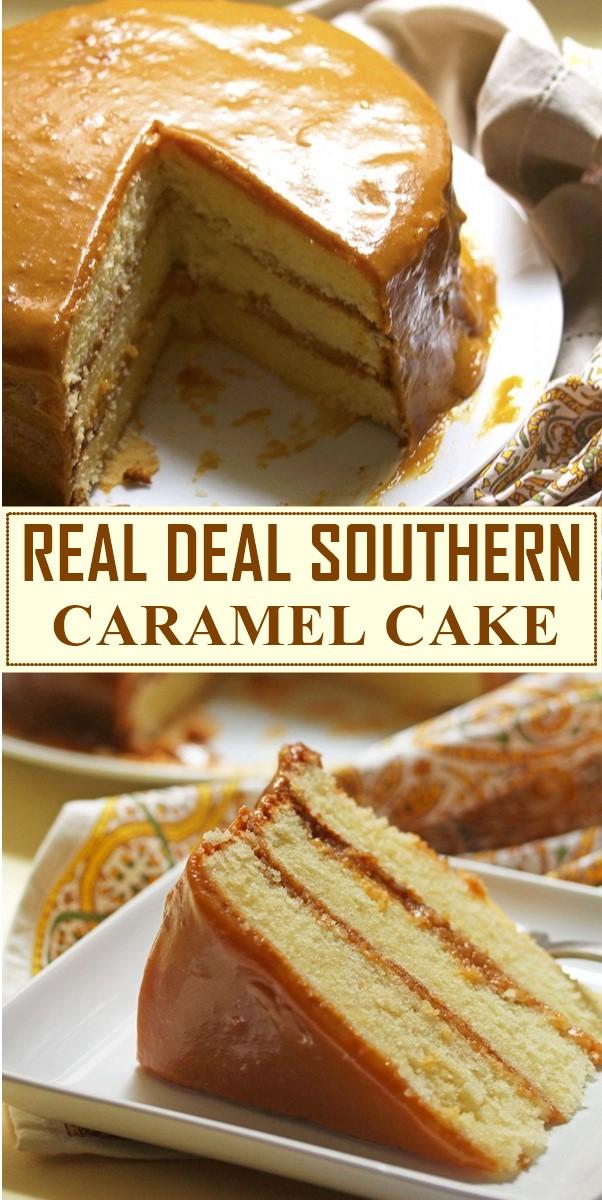 REAL DEAL SOUTHERN CARAMEL CAKE RECIPE #cakerecipes