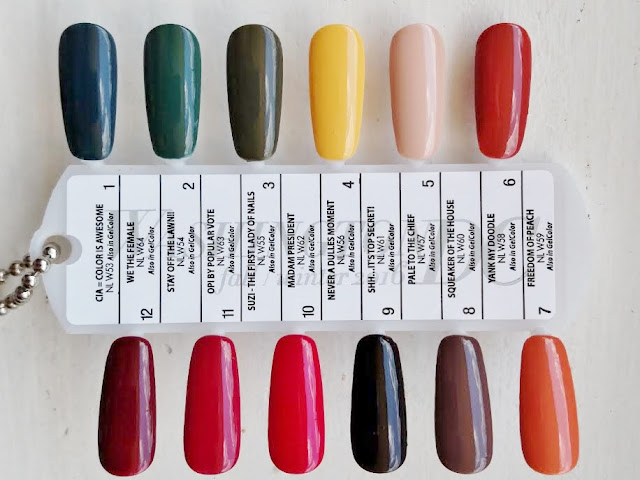 OPI Washington DC Fall Winter 2016 swatches