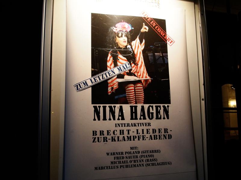 Plakat Nina-Hagen-Konzert