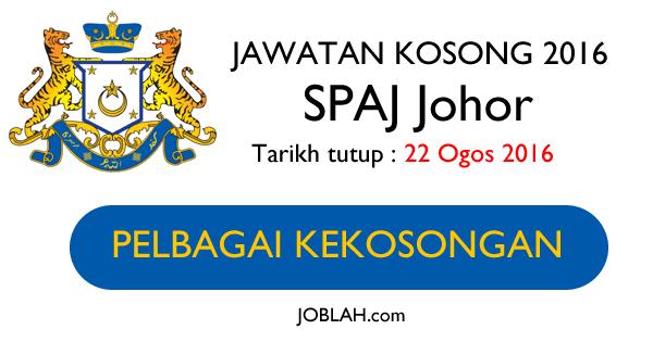 Suruhanjaya Perkhidmatan Awam Johor Jawatan Kosong SPAJ