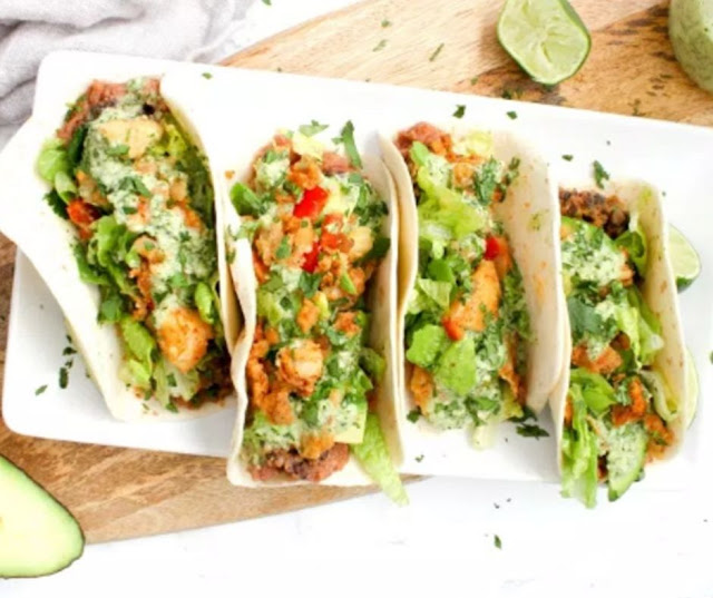 Crispy Vegan Potato Tacos With Jalapeno Cilantro Sauce