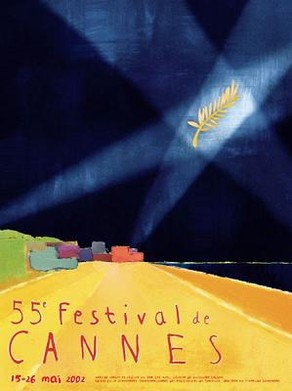 2002 cannes poster original illustration by Guillaume Lebigre