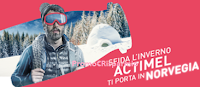 Logo Con Actimel vinci 13 viaggi in Norvegia