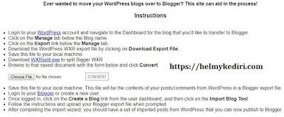 Cara import konten dari wordpress ke blogger