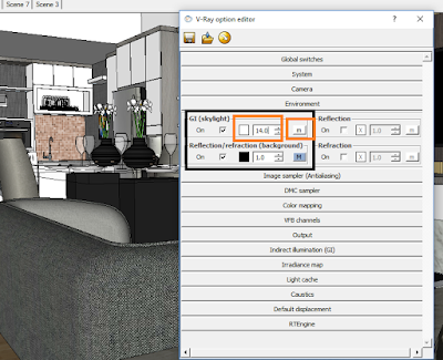 cara setting vray option