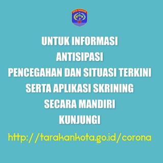 Aplikasi Skrining Mandiri http://tarakankota.go.id/corona - Tarakan Info
