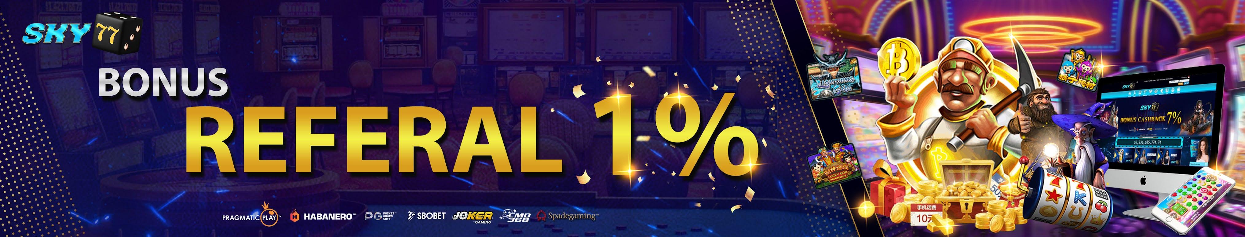 bonus refferal 1%