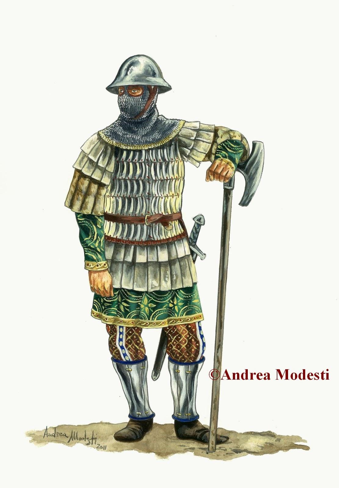 Andrea Modesti Art: Varangian Guardsmen