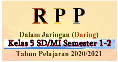 Rpp Daring Kelas 5 Sd Mi K13 Edisi 2020 Terlengkap Mayfile