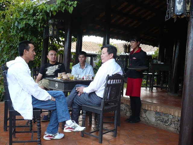 Enjoying free coffee at Buon Ma Thuot Coffee Festival