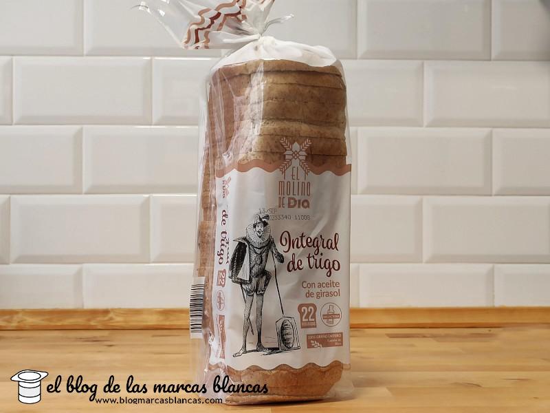 Pan de molde integral de trigo EL MOLINO DE DIA en El Blog de las Marcas Blancas.