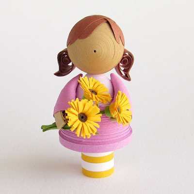 Quilling girls doll designs - quillingpaperdesigns