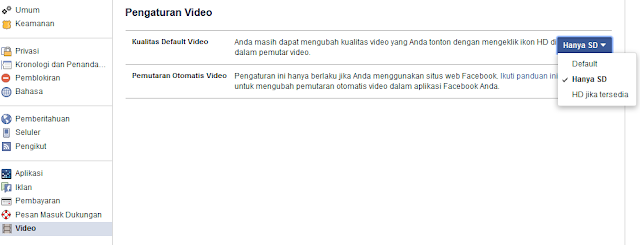 Memutar Video Di Facebook Agar Lebih Cepat