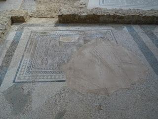 Mosaico de los peces. Villa de la Tejada