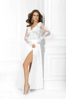 Дълга рокля с мрежа - Twiggyshop