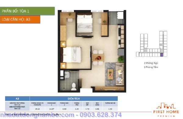 Mặt bằng tầng căn hộ First Home quận 9